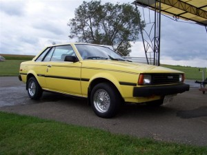 1982 Corolla Coupe yellow