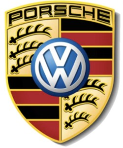 porsche and vw logo