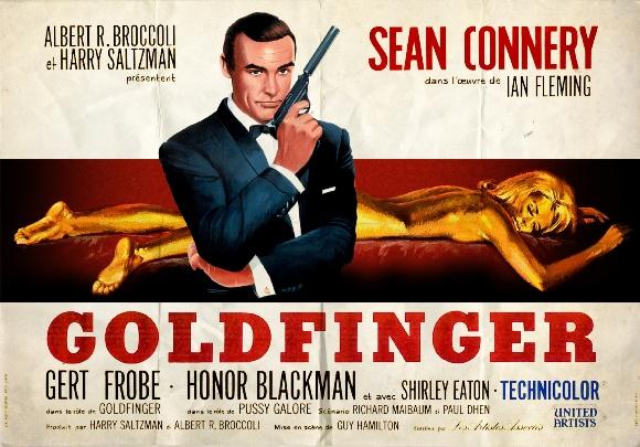 Goldfinger (1964) Quad