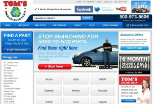 The NEW Tom's Foreign Auto Parts website