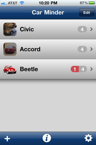 Car apps in the itunes store