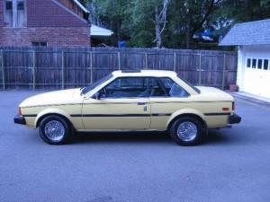 Yellow classic corolla