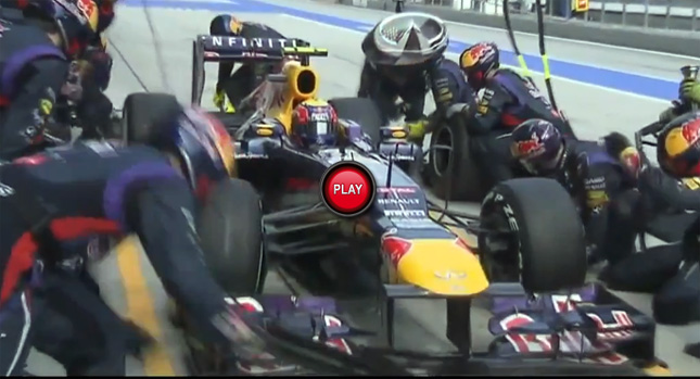 red bull team changing tire